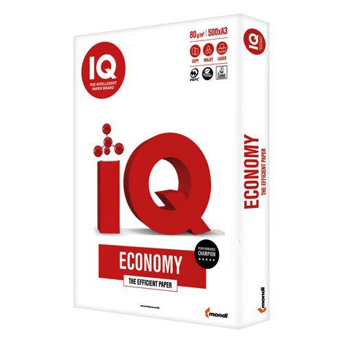 Hartie alba A3, 80 g/mp, 500 coli/top, IQ Economy
