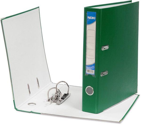 Biblioraft plastifiat, 7.5cm, verde, NOKI