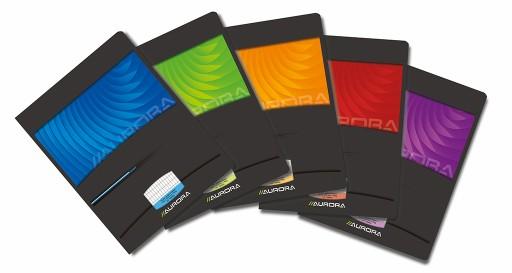 Caiet A5, 36 file - 90g/mp, carton lucios, AURORA Mano - dictando