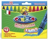 Creioane cerate, lavabile, 24 culori/cutie, CARIOCA Crayons