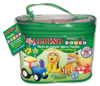 Kit 8 culori x 40gr plastilina magica, 320 grame, ALPINO Bolsa